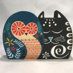 Wooden Owl & Pussycat