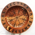 Rune Bowl with Viking Compass
